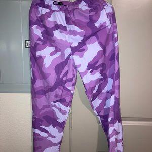Purple Camp Joggers